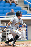 Robbie Grossman (3) of the Bradenton Marauders during a game vs. the Dunedin Blue Jays May 16 2010 at Dunedin Stadium in Dunedin, Florida. Bradenton won the game against Dunedin by the score of 3-2.  Photo By Scott Jontes/Four Seam Images