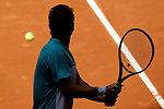 Adrian Mannarino during Madrid Open Tennis 2015 match.May, 4, 2015.(ALTERPHOTOS/Acero)