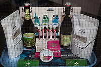 Switzerland. Canton Grisons. Cama. CBD Logistics is a  shop selling various cannabis CBD and hemp products. Green Spirits is a brand of 100% additive-free swiss natural quality cannabis (inflorescences, sublingual oils, extracts, e-liquids, food & drinks, beauty care,...). CBD coffee. Two bottles Hanfblüte beer, spiced with hemp leaves and hemp blossom grown in Switzerland (naturally free from THC), the beer has an intense hemp aroma and is brewed with Viennese malt and Stammheim hops. The business of selling cannabis CBD is registered with the Swiss Federal Health Office. The Swiss legal requirements have a 1 percent THC limit compare to the European Union (EU) where the THC limit is limited to 0.3 percent. Cannabidiol (CBD) is a phytocannabinoid discovered in 1940. It is one of some 113 identified cannabinoids in cannabis plants and accounts for up to 40% of the plant's extract. Cannabidiol can be taken into the body in multiple ways, including by inhalation of cannabis smoke or vapor, as an aerosol spray into the cheek, and by mouth. It may be supplied as CBD oil containing only CBD as the active ingredient (no included tetrahydrocannabinol [THC] or terpenes), a full-plant CBD-dominant hemp extract oil, capsules, dried cannabis, or as a prescription liquid solution. 24.07.2019 © 2019 Didier Ruef