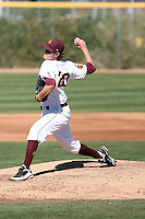 Brady Rodgers #20 of the Arizona State Sun Devils pitches against the Alumni team on February 12, 2011 at Packard Stadium, Arizona State University, in Tempe, Arizona..Photo by:  Bill Mitchell/Four Seam Images.
