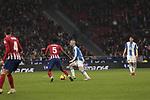 Atletico de Madrid's Thomas Teye and RCD Espanyol's Sergi Darder during La Liga match between Atletico de Madrid and RCD Espanyol at Wanda Metropolitano Stadium in Madrid, Spain. December 22, 2018. (ALTERPHOTOS/A. Perez Meca)