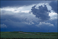 Stormy sky over country road<br />
