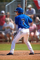 Seton Hall Pirates catcher Chris Villa (7) at bat during a game against the Ohio State Buckeyes on March 4, 2016 at North Charlotte Regional Park in Port Charlotte, Florida.  Ohio State defeated Seton Hall 9-3.  (Mike Janes/Four Seam Images)