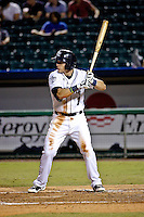 New Orleans Zephyrs second baseman Derek Dietrich (7) at bat against the Albuquerque Isotopes in a game at Zephyr Field on May 28, 2015 in Metairie, Louisiana. (Derick E. Hingle/Four Seam Images)
