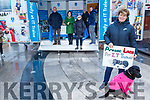 The staff of IT Tralee with their stand handing out the IT Tralee 2019 Prospectus in the square in Tralee on Saturday. Front. Helen Fitzgerald with her dog.<br /> Back L to r:  Bridget Crowley, Michael Hall, Carol Fitzgerald, Mary Rose Stafford, Sinead O'Hagan and Denis Sheehan.