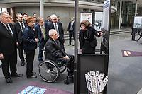 """Die bisher nur in den USA gezeigte Ausstellung """"Einige waren Nachbarn: Taeterschaft, Mitlaeufertum und Widerstand waehrend des Holocaust"""" des United States Holocaust Memorial Museum wurde anlaesslich des Gedenktags fuer die Opfer des Nationalsozialismus, am Donnerstag den 31. Januar 2019, im Paul-Loebe Haus des Deutschen Bundestag vom Bundestagspraesidenten Wolfgang Schaeuble (sitzend) und der Direktorin des Holocaust Memorial Museum, Sara J. Bloomfield (rechts) eroeffnet. Die Ausstellung wird erstmals in Deutschland praesentiert. Mit ihr wollen die Ausstellungsmacher aufzeigen, welche Beweggruende und Druckmittel die Entscheidungen und Verhaltensweisen einzelner Menschen waehrend des Holocausts beeinflussten und wie die Menschen auf die Noete ihrer juedischen Klassenkameraden, Kollegen, Nachbarn und Freunde reagierten.<br /> Hinter Schaeuble vlnr.: Jeremy Issacharoff, israelischer Botschafter; Felix Klein, Antisemitismusbeauftragter der Bundesregierung; Petra Pau, stellv. Bundestagspraesidentin. Rechts stehend: Josef Schuster, Vorsitzender des Zentralrat der Juden in Deutschland.<br /> 31.1.2019, Berlin<br /> Copyright: Christian-Ditsch.de<br /> [Inhaltsveraendernde Manipulation des Fotos nur nach ausdruecklicher Genehmigung des Fotografen. Vereinbarungen ueber Abtretung von Persoenlichkeitsrechten/Model Release der abgebildeten Person/Personen liegen nicht vor. NO MODEL RELEASE! Nur fuer Redaktionelle Zwecke. Don't publish without copyright Christian-Ditsch.de, Veroeffentlichung nur mit Fotografennennung, sowie gegen Honorar, MwSt. und Beleg. Konto: I N G - D i B a, IBAN DE58500105175400192269, BIC INGDDEFFXXX, Kontakt: post@christian-ditsch.de<br /> Bei der Bearbeitung der Dateiinformationen darf die Urheberkennzeichnung in den EXIF- und  IPTC-Daten nicht entfernt werden, diese sind in digitalen Medien nach §95c UrhG rechtlich geschuetzt. Der Urhebervermerk wird gemaess §13 UrhG verlangt.]"""