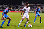 Jamal Rashed Abdulrahman of Bahrain (C) in action during the AFC Asian Cup UAE 2019 Group A match between India (IND) and Bahrain (BHR) at Sharjah Stadium on 14 January 2019 in Sharjah, United Arab Emirates. Photo by Marcio Rodrigo Machado / Power Sport Images
