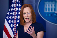 White House Press Secretary Jen Psaki holds a news conference in the James Brady Press Briefing Room of the White House, in Washington, DC, USA, 05 April 2021.<br /> CAP/MPI/PYL<br /> ©PYL/MPI/Capital Pictures