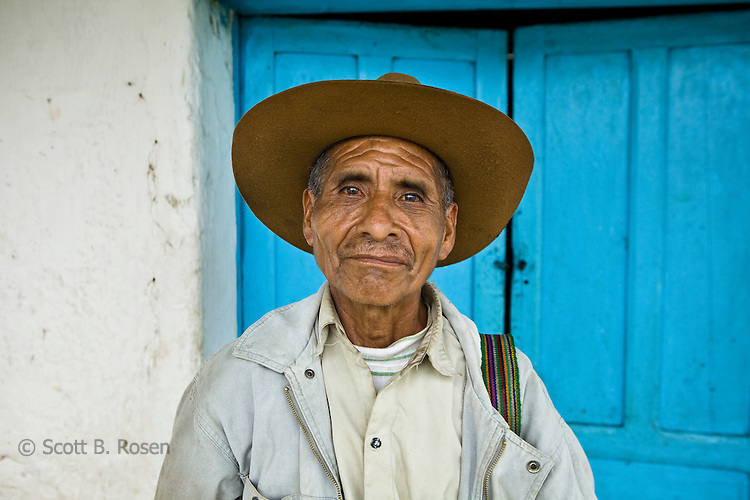 Portrait of Guatemalan man, Nebaj, Western Highlands, Guatemala