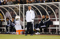Jose Mourinho watches from the sideline. Real Madrid defeated Club America 3-2 at Candlestick Park in San Francisco, California on August 4th, 2010.