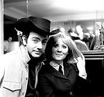 "Neil Diamond and Lulu 1967 celebrate Lulu recording his ""The Boat That I Row"".."