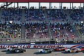 #20: Harrison Burton, Joe Gibbs Racing, Toyota Supra Dex Imaging and #18: Riley Herbst, Joe Gibbs Racing, Toyota Supra Monster