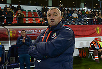 20171020 - LEUVEN , BELGIUM : Romanian head coach Mirel Albon pictured during the female soccer game between the Belgian Red Flames and Romania , the second game in the qualificaton for the World Championship qualification round in group 6 for France 2019, Friday 20 th October 2017 at OHL Stadion Den Dreef in Leuven , Belgium. PHOTO SPORTPIX.BE | DAVID CATRY