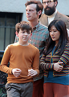 September 24, 2021.Winslow Fegley, Scoot McNairy, Constance Wu, filming on location for  Sony pictures Lyle Lyle Crocodile<br />   in New York September 24, 2021 Credit:RW/MediaPunch