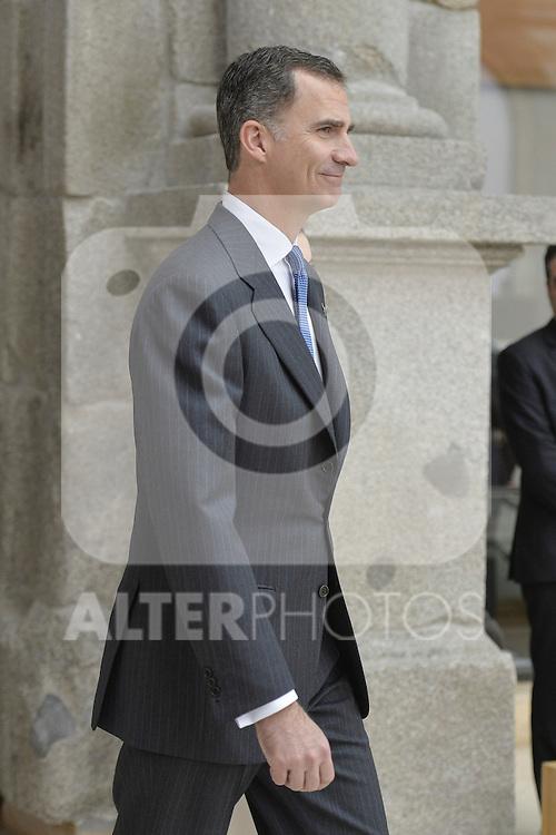 King Felipe VI of Spain during a meeting with Prado Museum board representatives at Prado National Museum in Madrid, Spain. February 16, 2016. (ALTERPHOTOS/Pool)