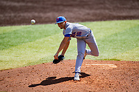Florida Gators relief pitcher Ryan Cabarcas (16) delivers a pitch to the plate against the Tennessee Volunteers on Robert M. Lindsay Field at Lindsey Nelson Stadium on April 11, 2021, in Knoxville, Tennessee. (Danny Parker/Four Seam Images)