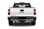 Straight rear view of 2016 GMC Sierra 1500 2WD Double Cab Standard Box SLE 4 Door Pick-up Rear View  stock images