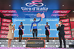 Ruben Guerreiro (POR) EF Pro Cycling retains the mountains Maglia Azzurra at the end of Stage 13 of the 103rd edition of the Giro d'Italia 2020 running 192km from Cervia to Monselice, Italy. 16th October 2020.    <br /> Picture: LaPresse/Massimo Paolone | Cyclefile<br /> <br /> All photos usage must carry mandatory copyright credit (© Cyclefile | LaPresse/Massimo Paolone)