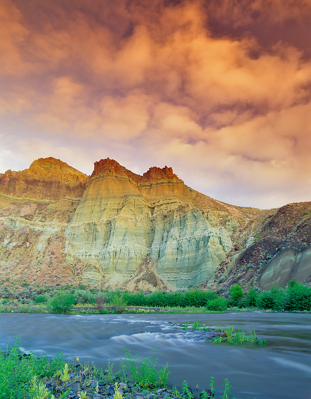 Cathedral Rock. John Day Fossil Beds National Monument. Oregon.