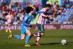 Marc Cucurella of Getafe FC and Nabil Fekir of Real Betis Balompie during La Liga match between Getafe CF and Real Betis Balompie at Wanda Metropolitano Stadium in Madrid, Spain. January 26, 2020. (ALTERPHOTOS/A. Perez Meca)
