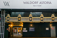 NEW YORK, NY - MAY 21:  One of the entrance of International Hotel Waldorf Astoria is seen closed during the outbreak of the COVID-19 pandemic on May 21, 2020 in New York City. United States have shuttered businesses like hotels, restaurants and retailers, pushing the economy into a deep recession, shedding more 20 million jobs and eliminating a decade's worth of growth, bringing the monthly unemployment rate. (Photo by Eduardo MunozAlvarez/VIEWpress)