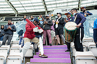 The Indian fans make the most of the lack of play during India vs New Zealand, ICC World Test Championship Final Cricket at The Hampshire Bowl on 18th June 2021