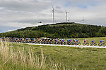 The peloton during Stage 9 of the 2021 Giro d'Italia, running 158km from Castel di Sangro to Campo Felice (Rocca di Cambio), Italy. 16th May 2021.  <br /> Picture: LaPresse/Fabio Ferrari | Cyclefile<br /> <br /> All photos usage must carry mandatory copyright credit (© Cyclefile | LaPresse/Fabio Ferrari)