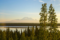 Mount Drum and mount Sanford of the Wrangell Mountains, Wrangell St. Elias National Park, Alaska