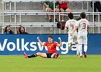 ORLANDO, FL - MARCH 05: Lucia Garcia #17 of Spain celebrates her goal during a game between Spain and Japan at Exploria Stadium on March 05, 2020 in Orlando, Florida.