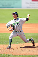 September 1 2008:  Starting pitcher Brad Hand of the Jamestown Jammers, Class-A affiliate of the Florida Marlins, during a game at Dwyer Stadium in Batavia, NY.  Photo by:  Mike Janes/Four Seam Images