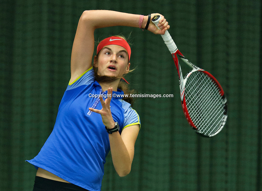 Rotterdam, The Netherlands, March 13, 2016,  TV Victoria, NOJK 12/16 years, Lara Panfilov (NED)<br /> Photo: Tennisimages/Henk Koster
