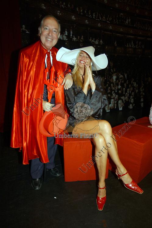 """CARLO GIOVANELLI E DANIELA AZZONE<br /> SPETTACOLO DI BENEFICENZA """"NOBILI SUL PALCO"""" TEATRO OLIMPICO ROMA 2003"""