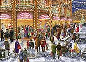 Marcello, CHRISTMAS LANDSCAPES, WEIHNACHTEN WINTERLANDSCHAFTEN, NAVIDAD PAISAJES DE INVIERNO, paintings+++++,ITMCXM1732B,#xl#