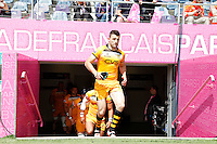 Photo: Richard Lane/Richard Lane Photography. Stade Francais v London Wasps. European Rugby Champions Cup Play-Off. 24/05/2014. Wasps' Chris Bell leads the team out.