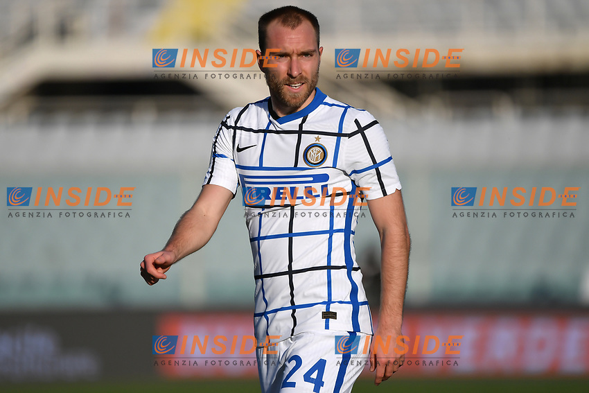 Christian Eriksen of FC Internazionale looks on during the Italy Cup round of 16 football match between ACF Fiorentina and FC Internazionale at Artemio Franchi stadium in Firenze (Italy), January 13th, 2021. Photo Andrea Staccioli / Insidefoto