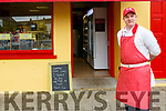 Listowel butcher Brendan O'Mahony pictured outside his shop in Listowel.