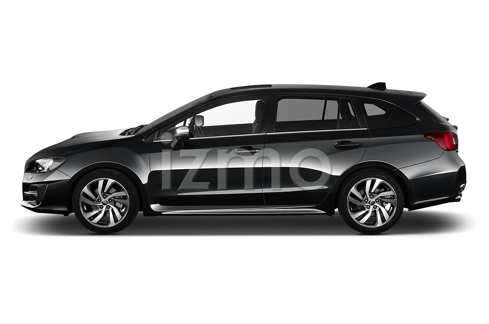 Car driver side profile view of a 2018 Subaru Levorg GTS Premium 5 Door Wagon