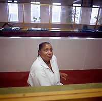 USA. Gatesville. 13th November 2007..Linda Carty in the visitation room at the Mountview Unit penitentiary, where she is on death row..©Andrew Testa