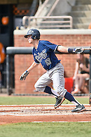 UC Irvine Anteaters second baseman Cole Kreuter (17) swings at a pitch during game one of a double header against the Tennessee Volunteers at Lindsey Nelson Stadium on March 12, 2016 in Knoxville, Tennessee. The Volunteers defeated the Anteaters 14-4. (Tony Farlow/Four Seam Images)
