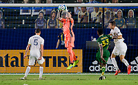 CARSON, CA - OCTOBER 07: Steve Clark #12 GK of the Portland Timbers makes a save during a game between Portland Timbers and Los Angeles Galaxy at Dignity Heath Sports Park on October 07, 2020 in Carson, California.