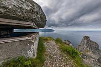 Aleutians world war II national historic area, Mt. Ballyhoo, Amaknak Island, Dutch Harbor, Aleutian Islands.
