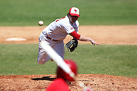 Illinois State Redbirds pitcher Corey Maines #30 during a game vs. the Ohio State Buckeyes at Chain of Lakes Park in Winter Haven, Florida;  March 11, 2011.  Illinois defeated Ohio State 12-1.  Photo By Mike Janes/Four Seam Images