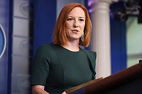 Jen Psaki, White House press secretary, speaks during a news conference in the James S. Brady Press Briefing Room, at the White House in Washington, D.C., U.S., on Wednesday, July 14, 2021. <br /> CAP/MPI/RS<br /> ©RS/MPI/Capital Pictures