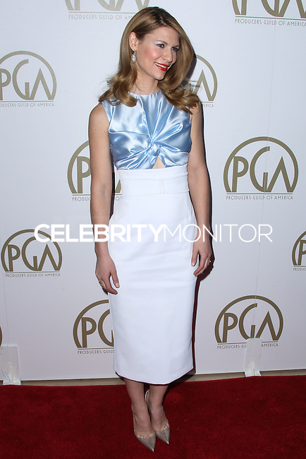 BEVERLY HILLS, CA - JANUARY 19: Claire Danes at the 25th Annual Producers Guild Awards held at The Beverly Hilton Hotel on January 19, 2014 in Beverly Hills, California. (Photo by Xavier Collin/Celebrity Monitor)