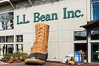 LL Bean flagship store, Freport, Maine, USA.