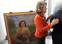 Feb. 26, 2011- Charlottesville, Virginia (USA)- A painting of the late Emily Couric was unveiled during the opening of the Emily Couric Clinic Cancer Center at the University of Virginia Health System in Charlottesville, Va. The event featured CBS Evening News anchor Katie Couric as the featured speaker. Emily Couric who died of pancreatic cancer in 2001.  Credit Image: © Andrew Shurtleff