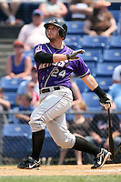 July 7th 2008:  Wyatt Toregas of the Akron Aeros, Class-AA affiliate of the Cleveland Indians, during a game at NYSEG Stadium in Binghamton, NY.  Photo by:  Mike Janes/Four Seam Images