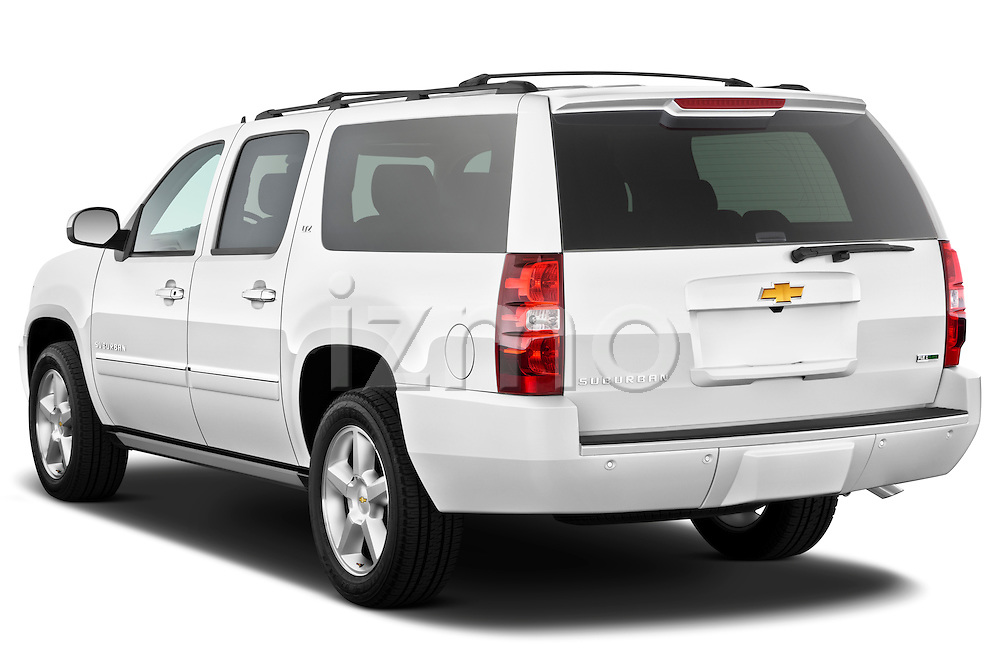 Rear three quarter view of a 2012 Chevrolet Suburban LTZ