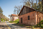 Historic and restored brick Chinese store and gaming hall, Fiddletown, Calif.