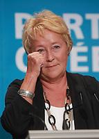 """PQ leader and Quebec Premier Pauline Marois gestures as she speaks at the """"Universite d'ete des jeunes du Parti Quebecois"""" event in Quebec City, Sunday August 25, 2013.<br /> <br /> PHOTO :  Francis Vachon - Agence Quebec Presse"""